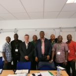 Wood photo: With the CEO at the end of a week long Training on Minimum Industrial Safety Training - MIST