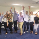 ANZ colleagues celebrate sales training