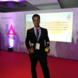 Novartis photo: After receiving award in annual meeting in Hyderabad.