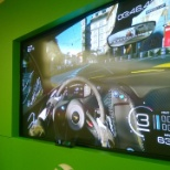 "Showing off xbox one before its release on a 103"" screen"