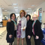 Hoda Kotb, news anchor and co-host of Today with Kathie Lee & Hoda, stopped by FM Global's trade sho