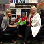 ProCare One photo: Lori and Cindi at Anaheim Regional love our holiday basket
