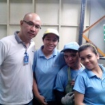 my workmates, me and my supervisor