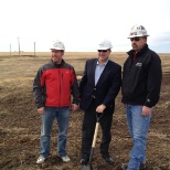 Strike photo: Official sod turning at the new yard.