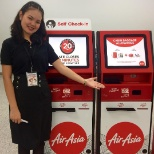 This is Air Asia's kiosk where you can do self check in