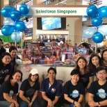 Singapore employees took the morning to volunteer at Toy Buffet.