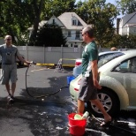 CELTIC HEALTHCARE photo: Washing our staff member's cars at a staff appreciation car wash for our NE PA team.