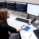 RailTerm employee performing Rail Traffic Control (RTC) duties