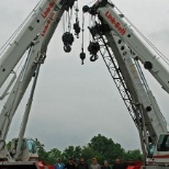 Some of our Crane Operators by 4 of our larger cranes