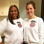 Regions Bank photo: My co-worker and I in our matching sweatshirts that I made us!
