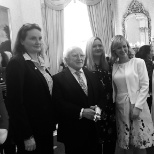 Meeting the Irish President!