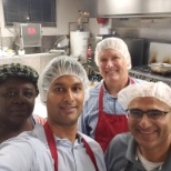 Ricoh's Executive Management Team prepared lunches at Knights Table to help those in the community.