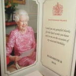brighterkind photo: Our resident wished the Queen kind words on her 90th Birthday and received a beautiful letter.
