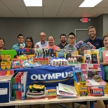Olympus Houston gathered donations for their Back To School Drive this month.