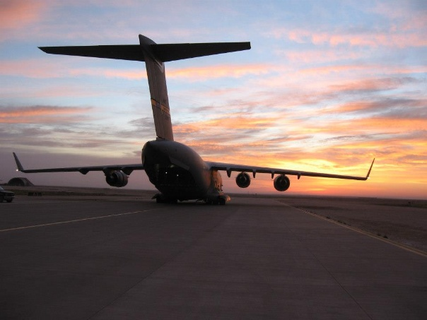 C-17 Cargo Plane Ready For Take Off
