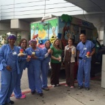 Enjoying snow cones during Nurses Week