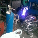 Welding of steel pipe for installation of gas surface tanks