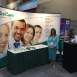 EmCare photo: Working a trade show