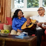 Comfort Keepers photo: Helping a client stay active.