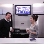 BlackRock Inc. photo: Laughs over coffee
