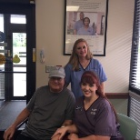 Fresenius Medical Care photo: Clinic Manager, Nurse and one of over 160,000 Fresenius patients nationwide.