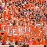 Some dedicated fans, look at that sea of orange!