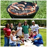 Spring Venture Group photo: Everyone wins when a team cookout is the reward for a job well done!