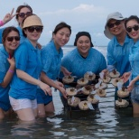 Autodesk photo: Our APAC Demand Generation team volunteering at a coral reef in Bali during Global Month of Giving.