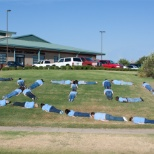 Texas Trust employees 'planking'