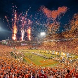 Fireworks in Memorial Stadium