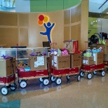 Donating care packages to the Colorado Children's Hospital.