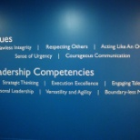 The Medicines Company photo: The Medicines Company Core Values and Leadership Competencies.