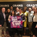 Employees celebrated being named the #7 Best Place to Work in NYC by Crain's New York Business.