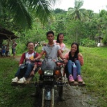 It's was habalhabal local name of riding motor only way to reach the isolated area of cadahon