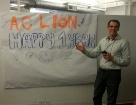 AC Lion anniversary in new office!