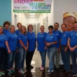 11 employees from the Medical Education Specialist team at HQ volunteered at Feed the Children.