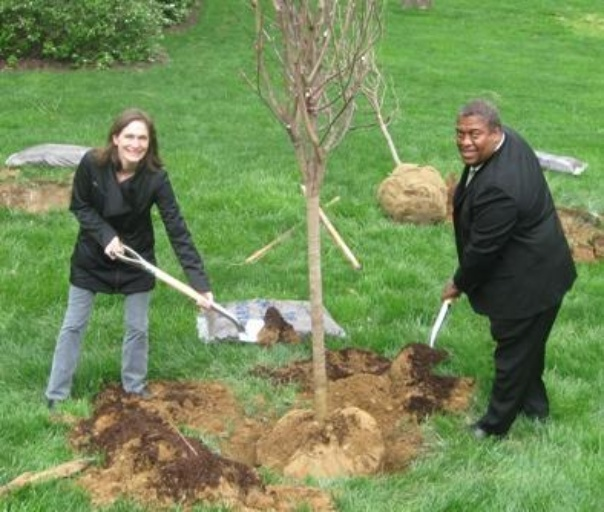 Earth Day tree planting at our corporate office.