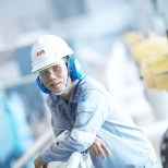 ABB power plant worker