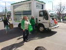 QPS Ad Truck in the New London St. Patrick Parade