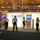 Indeed 10x20 booth