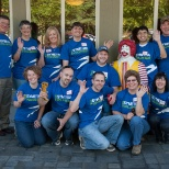Each month, Symetra volunteers make dinner for the families staying at Ronald McDonald house.