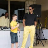 Power CEO Corey Schiller shares the mic with Alex's Lemonade Hero Cole Fitzgerald.