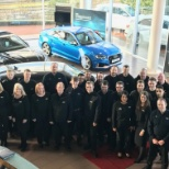 photo of Jardine Motors Group, The team at Bolton, looking forward to moving to their new site in July!