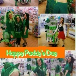 St Paddys day at Claire's