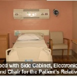 one of the sample patients room in St. Lukes Medical Center