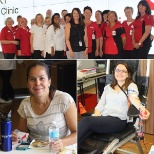 employees rolling up their sleeves to donate blood