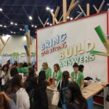 Google photo: The Google booth at the 2016 Grace Hopper Celebration of Women in Computing