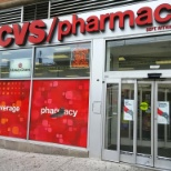 Main entrance of CVS on Queens Boulevard in Sunnyside, Queens, New York.