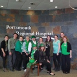 Portsmouth Regional Hospital - Portsmouth photo: Some of our staff celebrating St. Patrick's Day