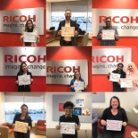 Ricoh photo: Coffee break on Mental Health in the Workplace on BellLetsTalk Day,